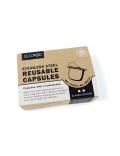 ΝΕΟ - Σετ με 2 επαναγεμιζόμενες κάψουλες και 120 τεμάχια Espresso Lids
