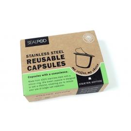 ΝΕΟ - Βασικό πακέτο (1 κάψουλα με 100 τεμάχια αυτοκόλλητα Espresso) Lids