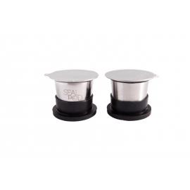 Σετ 2 κάψουλες με 100 τεμάχια Espresso Lids